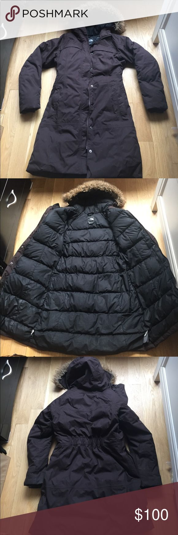 North Face Women's Parka Jacket - Mocha Brown North Face Women's Parka - mocha. Long parka, faux fur hood, four pockets on front, one internal pocket, good condition! Perfect for very cold winters :) North Face Jackets & Coats Puffers
