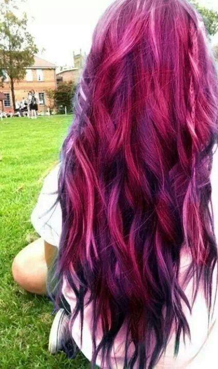 21. A #Royal 'do - 35 Beautifully Bold Hair #Colors to Consider ... → Hair #Flair