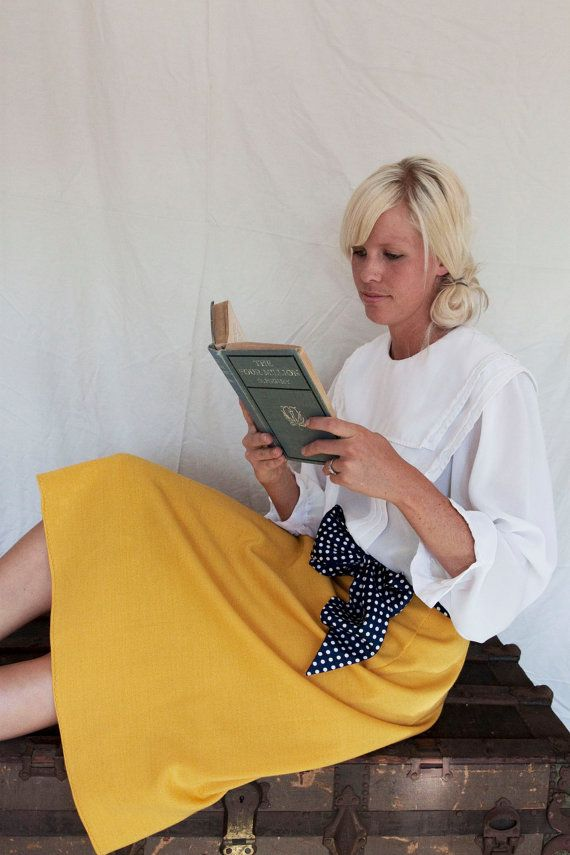 Vintage Handmade Mustard Yellow Skirt by therustyARTichoke on Etsy, $18.00