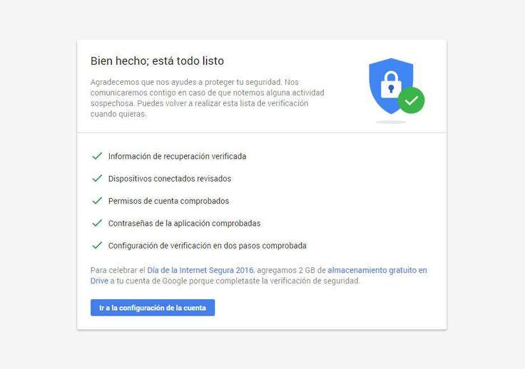 Google regala 2GB en Drive por el día del Internet seguro