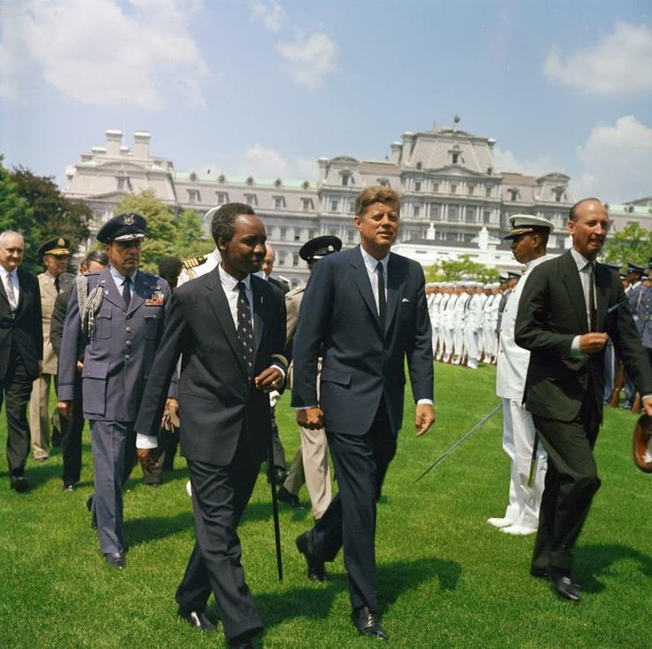 1963. 15 Juillet. Jfk avec le Président du Tanganyka