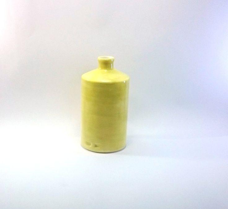Yellow Bottle Yellow Ceramic Bottle Ceramic Oil Bottle