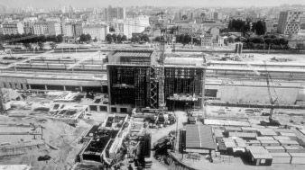 Construction de la gare de la Part-Dieu
