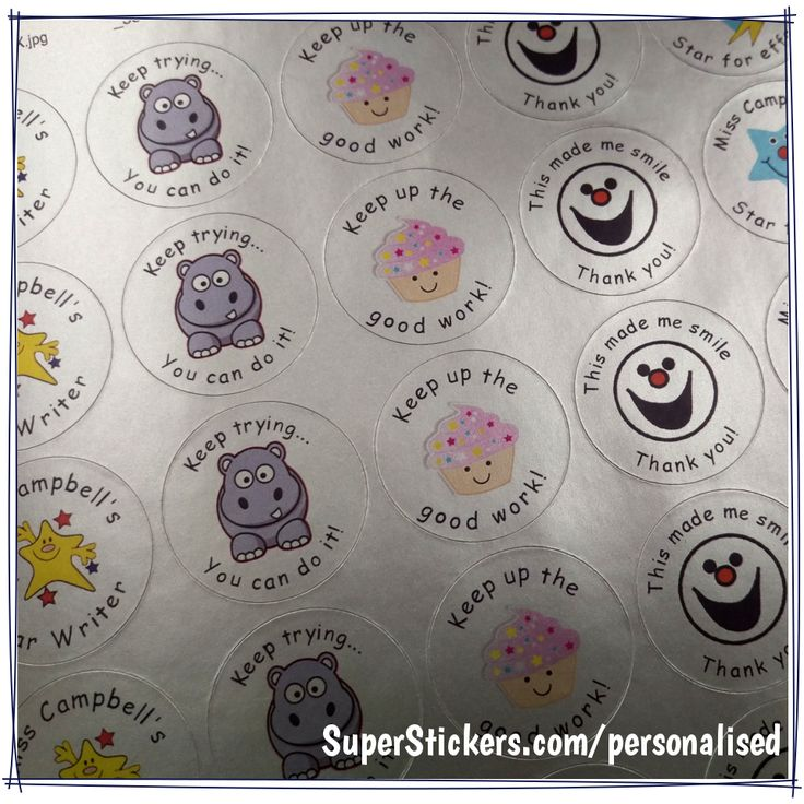 If you need stickers with more than one message try our mixed sheet personalised stickers