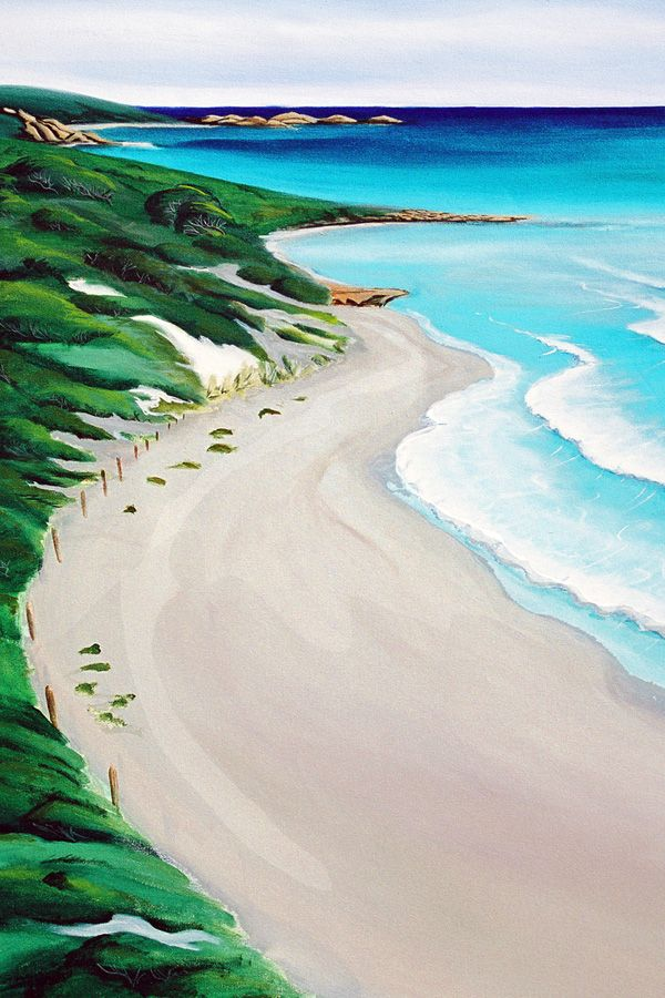 This painting of Yallingup Beach is one of a series of 10 collected together in Mandys latest mini site called 'seascape painting'