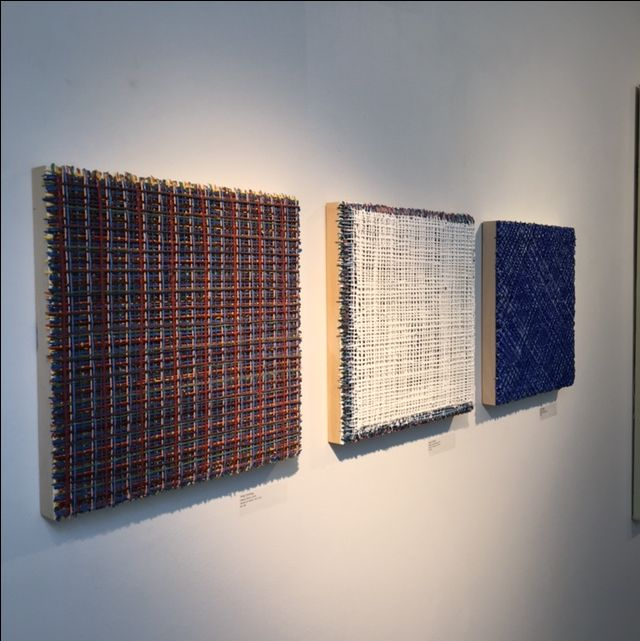 The metaphor of the shield and veil inform the poetic interplay of Vicky Christou's most recent work, which is composed of multiple layers of thick impasto that resemble paint-constructed bas-relief works, working together to form a grid with incredible depth.   Learn more about Vicky Christou: https://bau-xi.com/collections/vicky-christou