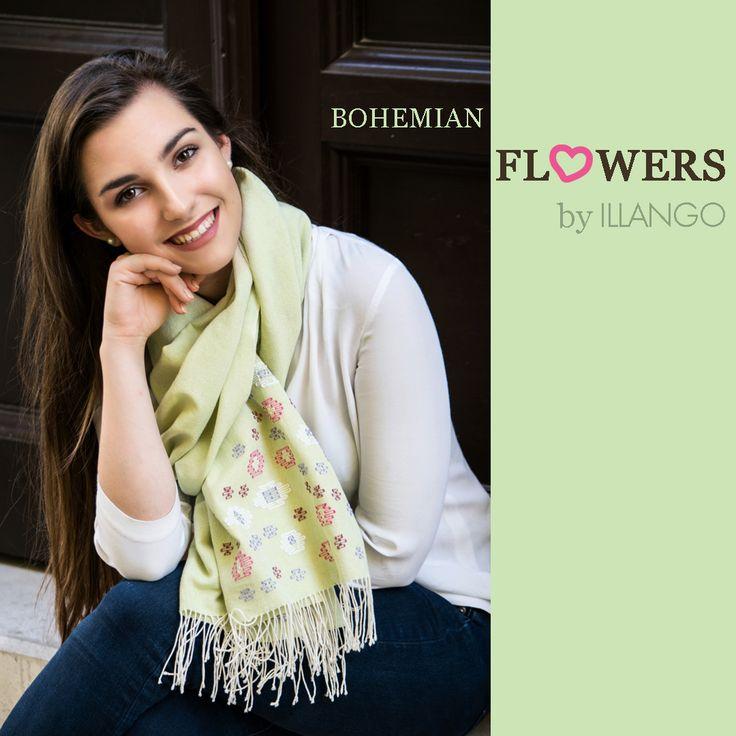Bohemian flowers #cottonscarf #lovehandwoven #summerflowers