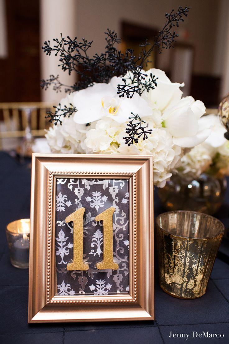 ornate gold framed table numbers nmeros de la tabla bodadeseos