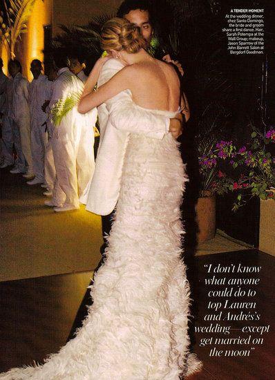 Lauren Santo Domingo wore two original creations by Olivier Theyskens.