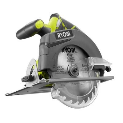 Ryobi ONE+ 18-Volt 6-1/2 in. Cordless Circular Saw (Tool Only)-P507 - The Home Depot