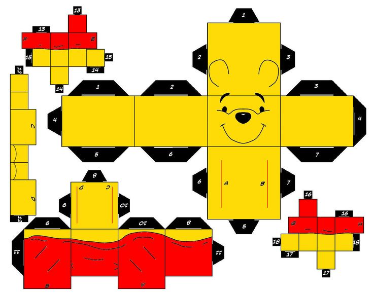 Bonecos para Montar 3D Pooh