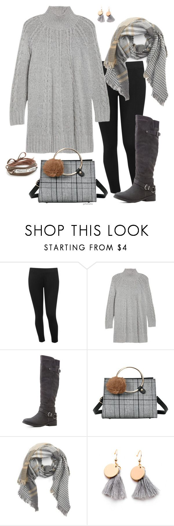 """""""Winter sky- plus size"""" by gchamama ❤ liked on Polyvore featuring M&Co, Caslon, Qupid, BP. and Chan Luu"""