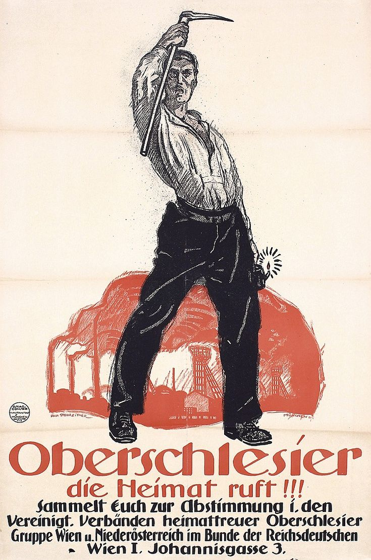 2 Original 1920s German Propaganda Poster UPPER SILESIA