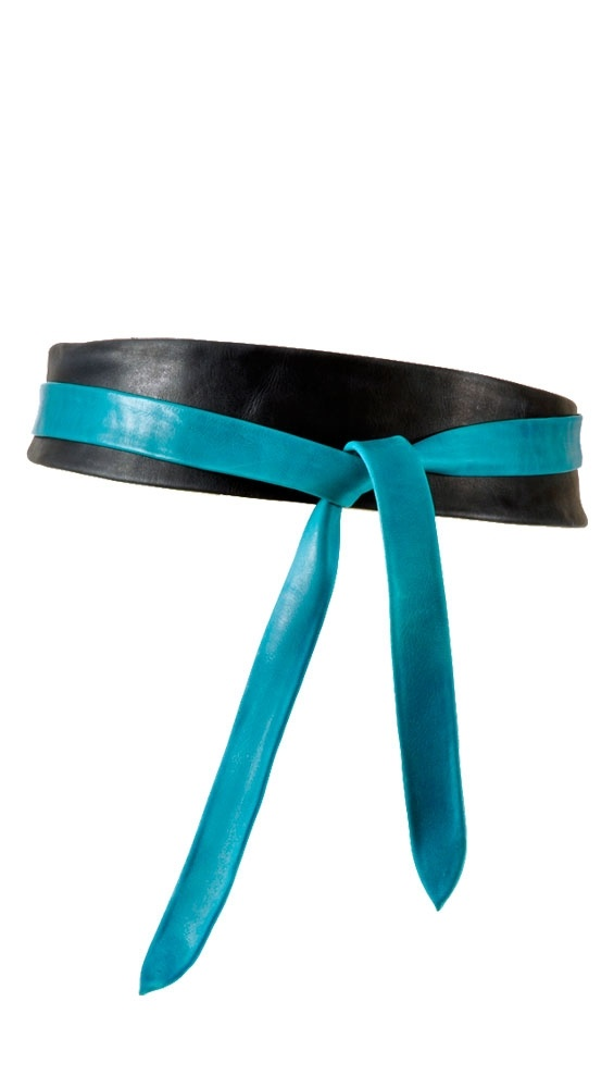 Wrap Belt - Indigo/Turquoise: Adorable Outfits, Duck Tape, Accessories Belt Hat