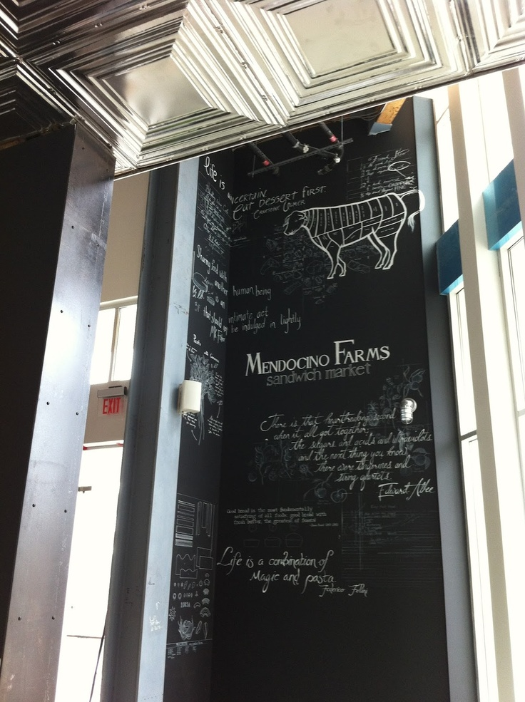 mendocino farms restaurant via vintageweave blog - Farmhouse Restaurant Ideas