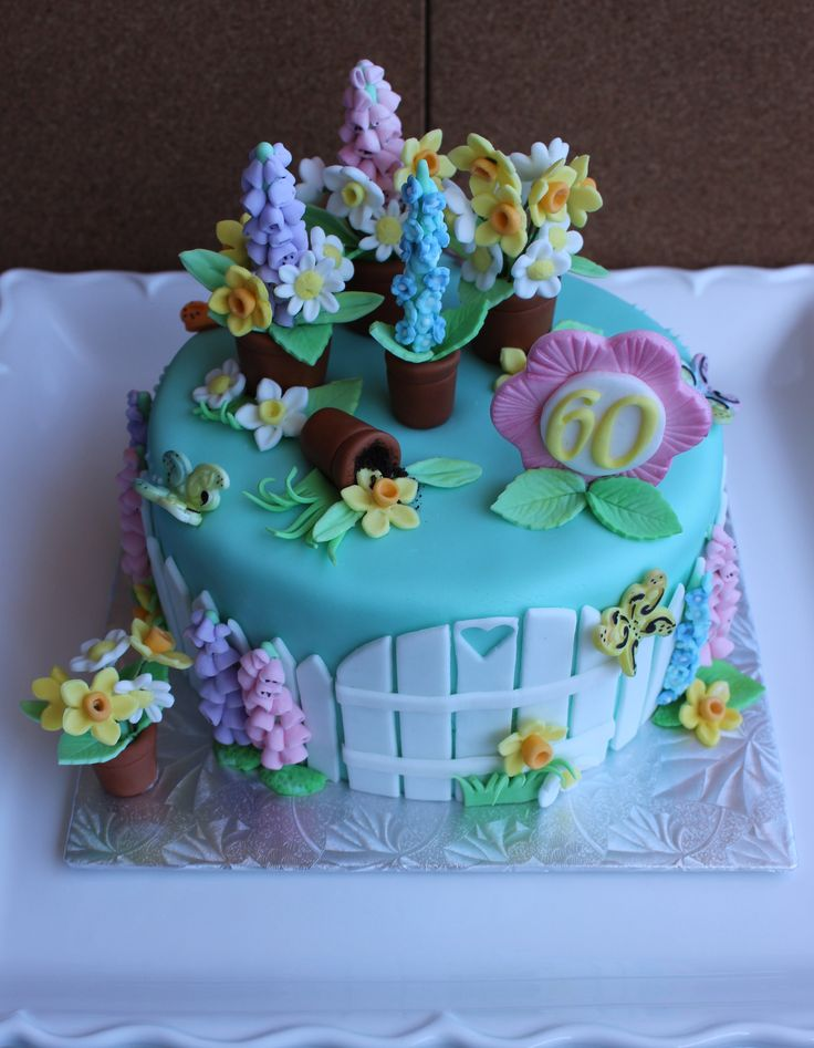 A Lovely Spring Cake - A Happy Birthday spring flower cake for a special lady who turned 60!!