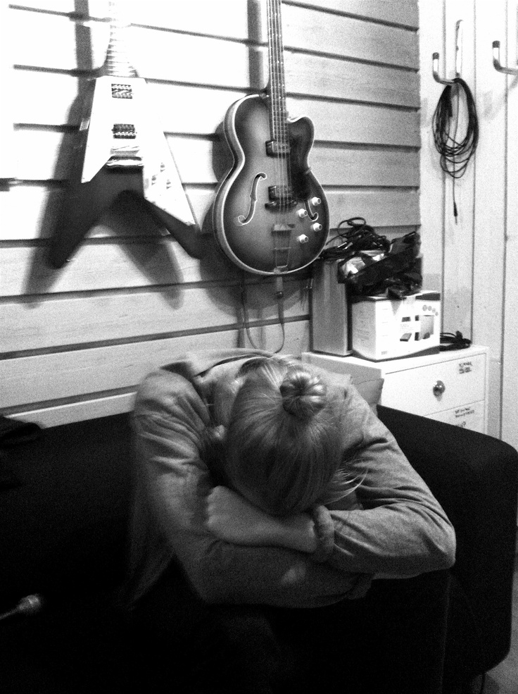 Timmy Grim in Mando Diao studio, recording process can be exhausting...
