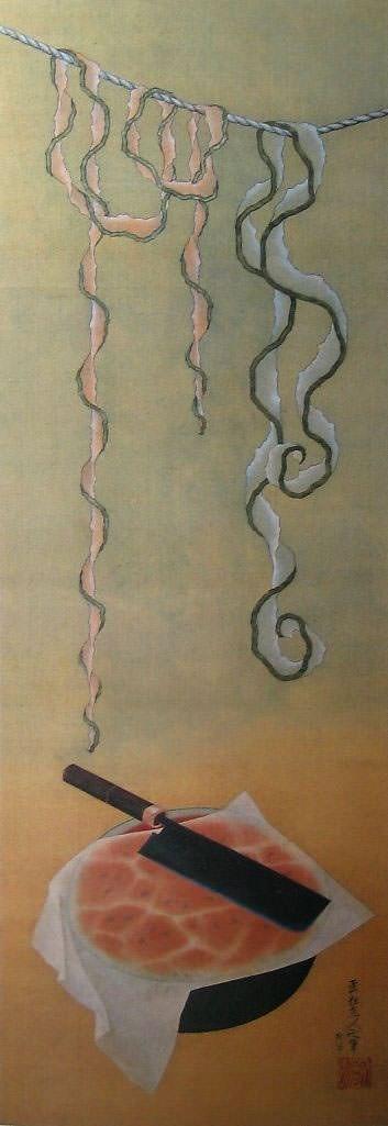 西瓜図(1839年) 葛飾北斎 78歳ごろ