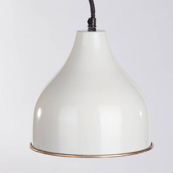 steel pendant light four colours by horsfall & wright | notonthehighstreet.com