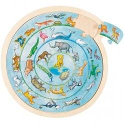 Puzzle – zvieratká v kruhu