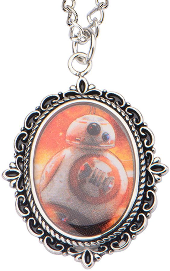 FINE JEWELRY Star Wars Stainless Steel BB-8 Cameo Pendant Necklace