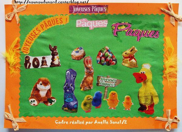 Cadres de Pâques réalisés avec les prospectus