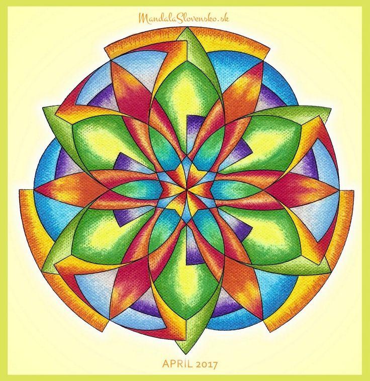 Mandala mesiaca Apríl 2017 Láskou rozkvitám na novú úroveň seba. #mandala #mandalaslovensko #mandalaslovakia #healingart #sacredgeometry #march2017