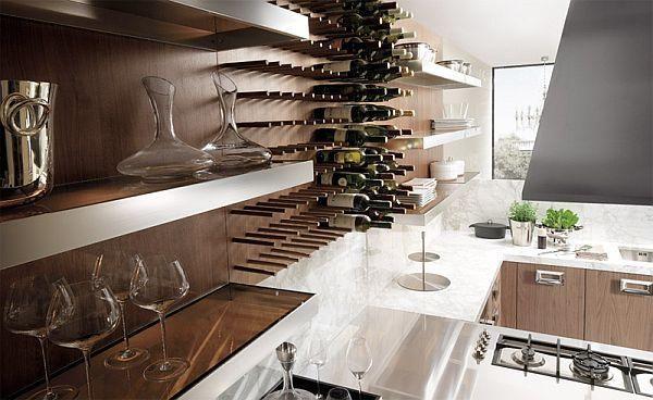 Kitchen furniture in walnut - fitted kitchen