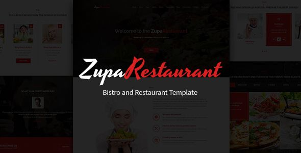 ZupaRestaurant – Bistro and Restaurant PSD Template