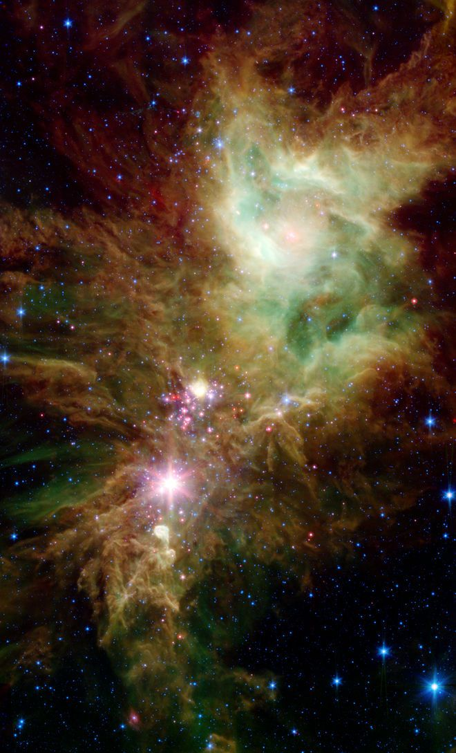 Snowflake Cluster and Cone Nebula