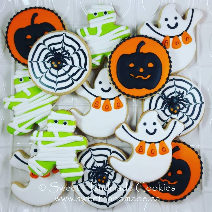 Happy Halloween!  What are your favourite costumes of years gone by?  #sweethandmadecookies #customcookies #decoratedcookies #designercookies #cookies #bradfordontariocookies #halloween #halloweencookies #spidercookies #spiderwebcookies #jackolanterncookies #mummycookies #ghostcookies #boo