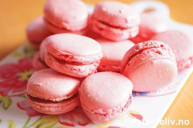 Strawberry Macarons | Det søte liv
