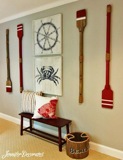 We are loving this Nautical Wall Decor! Our pillows would fit right in to this shot! RoomCraft.com