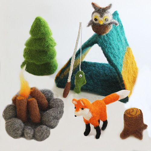 Craft kits for kids: Lullubee felting camping-themed kit