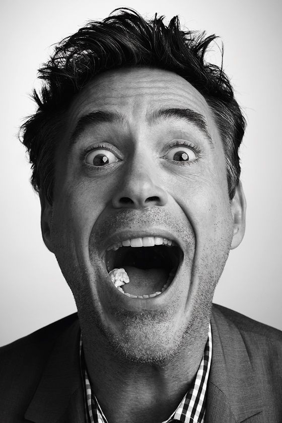 Robert Downey Jr  Only you could take a photo with gum in your mouth! <3 Iron Man