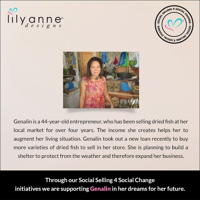 We are changing the world... one woman at a time. We believe that when women are empowered, so too are families; communities; the world. When you partner with Lily Anne Designs® you are empowering another woman in a developing country. Read Genalin's story... #LilyAnneDesigns #SocialSelling #ChangingTheWorld