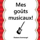 $ Everyone loves music! Give your students the opportunity to discuss their own musical tastes.  Some activities include: « Voici la couverture d'un ...