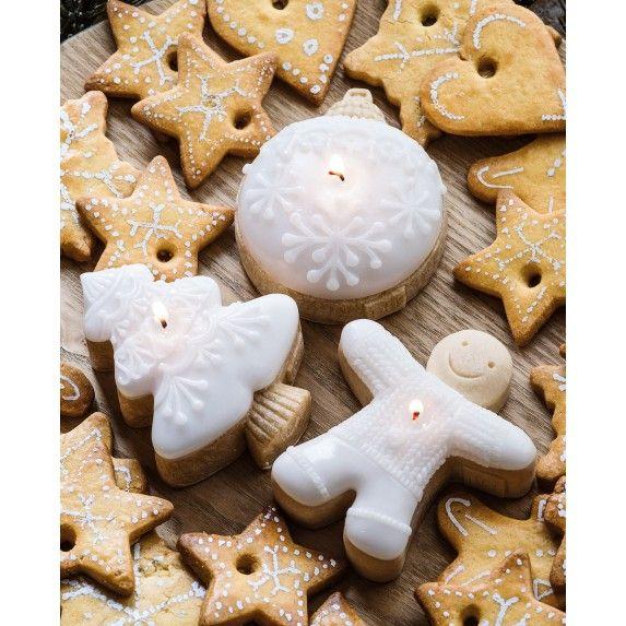 3 bougies parfumées gâteaux 8h biscuit