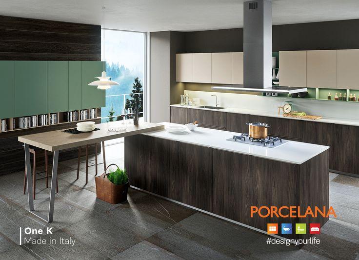 Χαρίστε το Νεοϋορκέζικο #urban #style στον πιο δημιουργικό χώρο του σπιτιού σας, με την πολυπόθητη κουζίνα One K! #DesignTip: Συνδυάστε τη με το πλακάκι δαπέδου Norge anthracite lappato, που θα αναδείξει την αξεπέραστη αισθητική της! #designyourlife @ Porcelana #stores