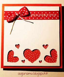 Biglietto anniversario matrimonio in rosso. Cliccate su auguriamo.blogspot.it