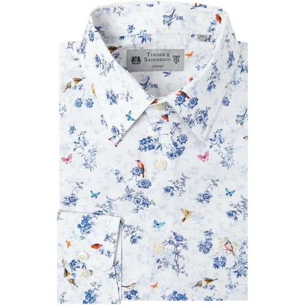 Turner & Sanderson Camborne Italian Fabric Floral Shirt ($97) ❤ liked on Polyvore featuring men's fashion, men's clothing, men's shirts, men's dress shirts, men shirts formal shirts, mens formal dress shirts, mens floral shirts, mens formal shirts, mens floral print dress shirt and mens floral dress shirts