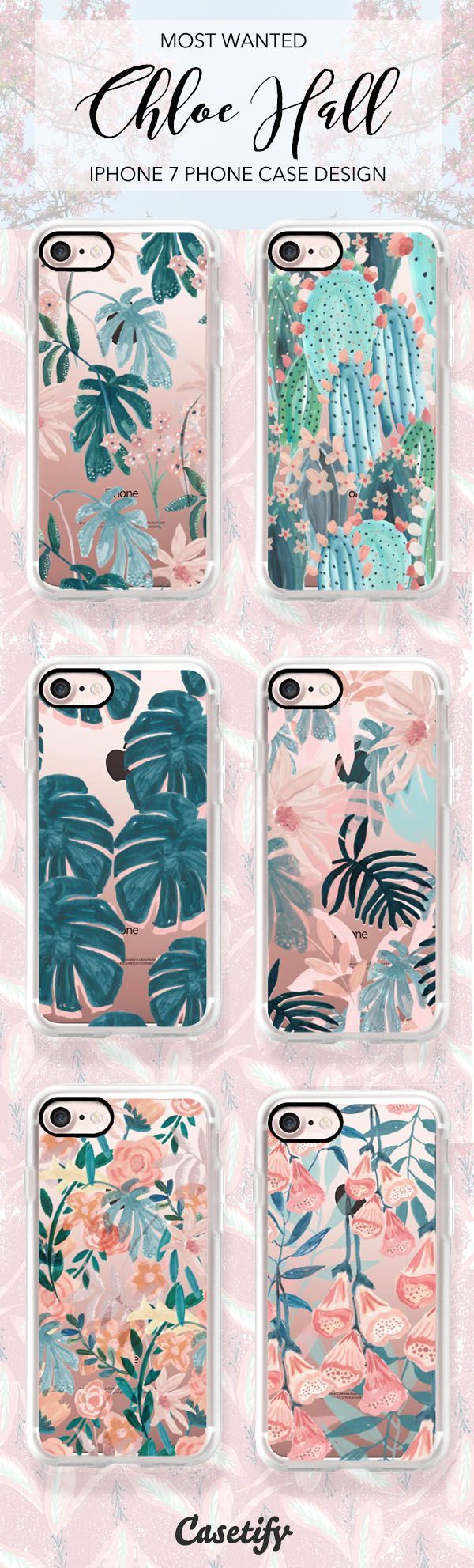 Most popular tropical plants and cactus iPhone 7 and iPhone 7 Plus case. Shop them all here > https://www.casetify.com/en_CA/chloehall/collection