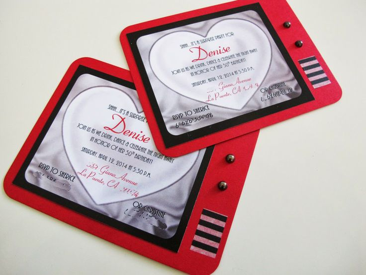 I Love Lucy Party birthday invitations | Posted by Le Petit Papier at 12:00 PM No comments: