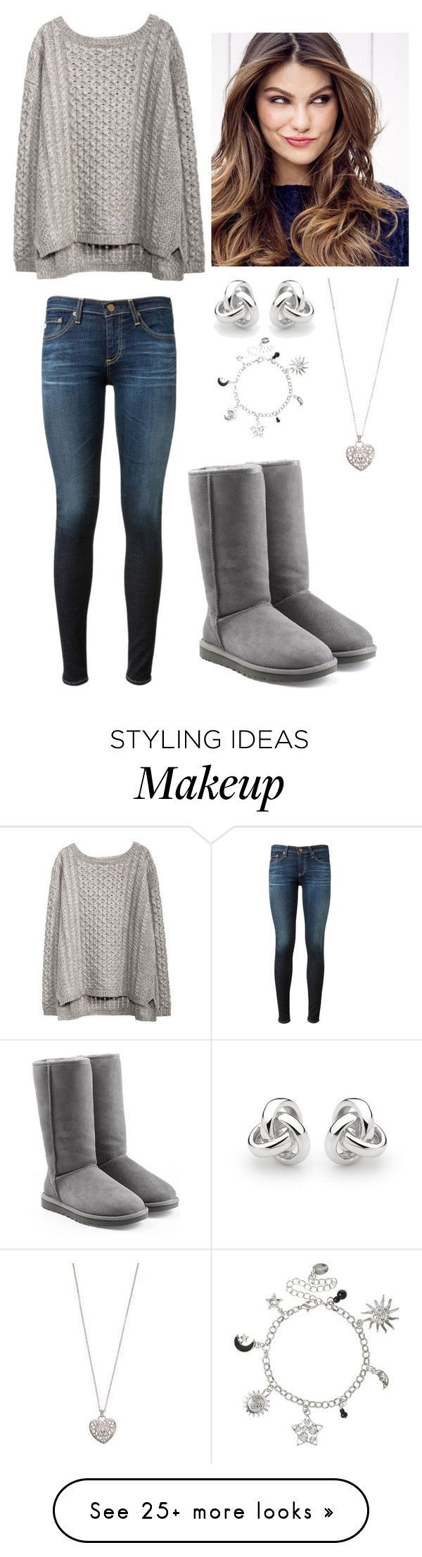 """Bonfire Night (:"" by bailee-givens on Polyvore featuring AG Adriano Goldschmied, Georgini, Accessorize, UGG Australia and ULTA"