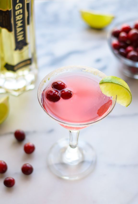 Cranberry St. Germain Cocktail—The perfect holiday drink... Next year signature drink for WINE SWAP!!