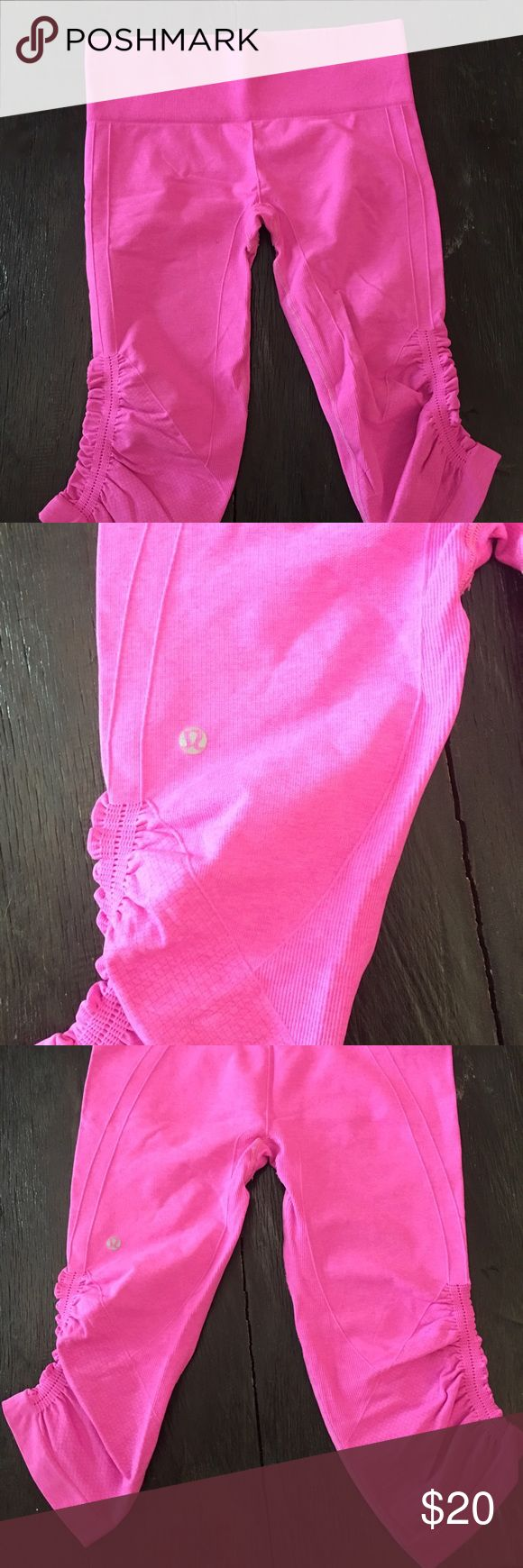 Lululemon Pink Capri Lululemon Hot Pink Capri worn twice lululemon athletica Pants Capris