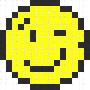 Wink Perler Bead Pattern / Bead Sprite