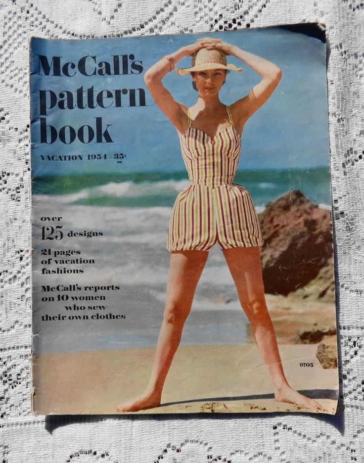 VINTAGE McCALL'S PATTERN BOOK VACATION 1954 WOMEN'S / CHILDREN FASHION