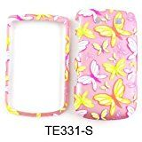 CELL PHONE CASE COVER FOR BLACKBERRY TORCH 9800 TRANS BUTTERFLIES ON LIGHT PINK