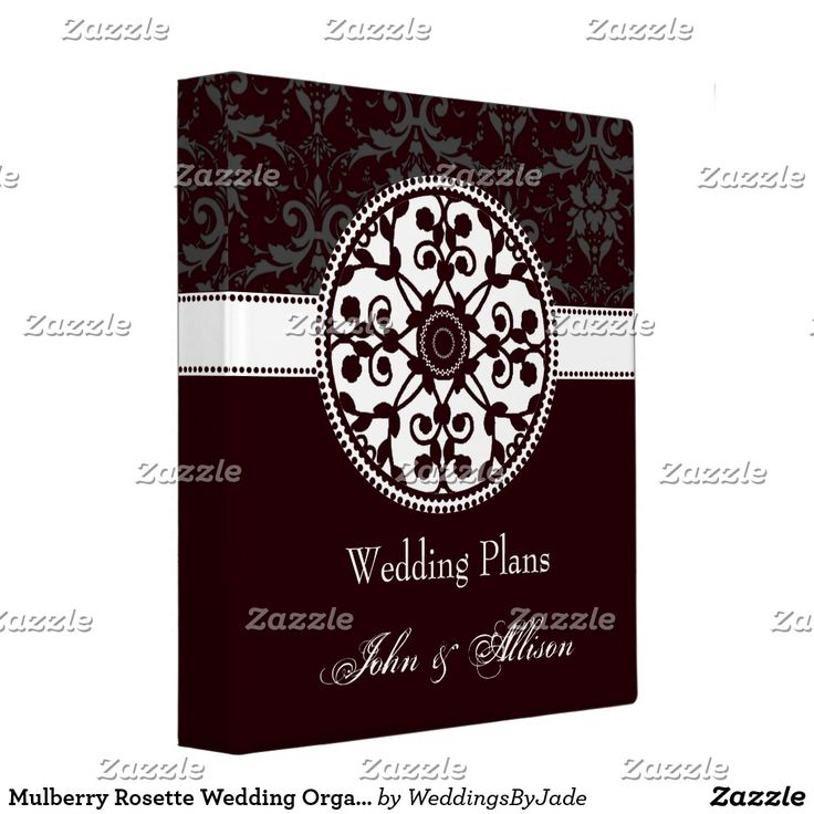 wedding planning checklist spreadsheet free%0A Mulberry Rosette Wedding Organizer Binder